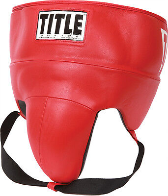 TITLE GEL World No-Foul Protector Leather Red X-Large NEW