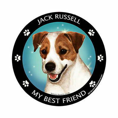 My Jack Russell Terrier Is My Best Friend Dog Car Magnet