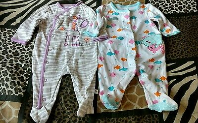Infant Girls Size 3M Lot of 2 Sleepers