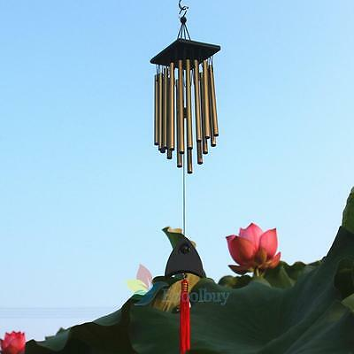 New 16 Tubes Deep Relaxing Windchime Chapel Bells Wind Chimes Decor  #A