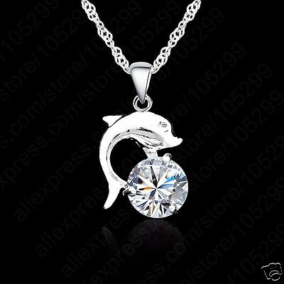 Childrens Girls Sterling Silver Layered Dolphin Necklace