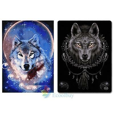5D DIY Diamond Painting Wolf Embroidery Cross Stitch Kit Home Wall Decor #A