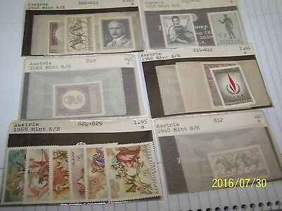Austria Mint Stamp 1968 Sets X 6 Sets Lot 1