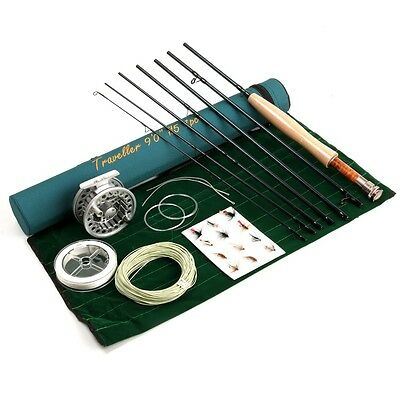 Fly Rod Combo  With Reel Line Backing Flies Etc