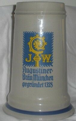 Original King Western Germany Stein Stoneware Beer Alcohol Collectible
