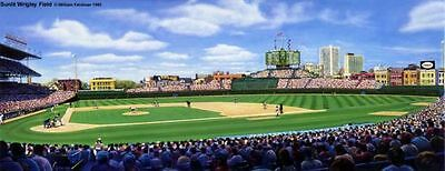 """Chicago Cubs """"Sunlit Wrigley Field"""" limited edition (600) lithograph/print MINT"""