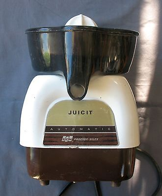 Vintage Proctor Silex Juicit Juicer J101W Automatic Clean & Working