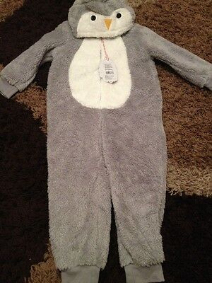 New Christmas All In One Warm Coat Themed 4-5 Years Rrp £17.00
