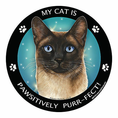 My Seal Point Siamese Cat Is My Best Friend Dog Car Magnet