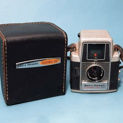 Vintage Bell & Howell Electric Eye 127 Film Camera with Case