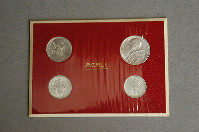 1951 Pope Pius XII Silver Lira Coins