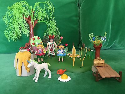 Playmobil - Fairy Garden 4199 combined with baby Unicorn and little Fairy set