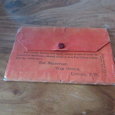 Scarce WW1 British Discharge Wallet With lots of paperwork   RAMC TF