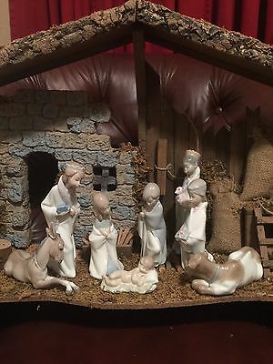 Lladro Childrens Nativity 8 Piece Set With Boxes Certificate  L-4670