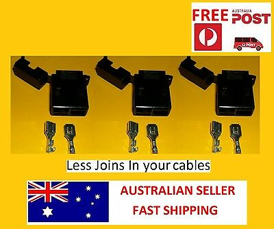 3 Pack Inline Standard Fuse Holder 5-50 Amp Stackable Diy Use Your Own Cable