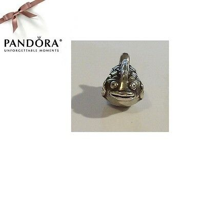 RARE & RETIRED Pandora Sterling Silver HAPPY FISH Charm - 790392