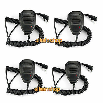 4LOT Practical Shoulder Handheld Baofeng UV5R Speaker Mic Walkie Talkie Radio US