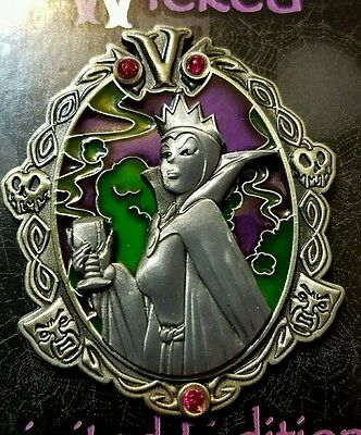 Disney Pin Wonderfully Wicked Evil Queen Pin NOC LE 3000