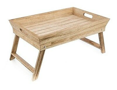 NEW Casa Uno Wood Breakfast Tray on Stand
