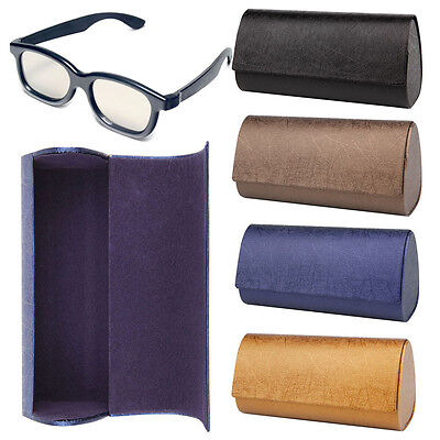 Sunglasses Hard Protector Shell Triangle PU Leather Case Eyewear Eyeglasses Box