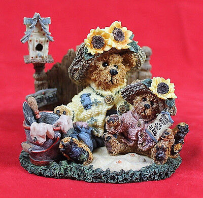 """Boyds Bears & Friends Bearstone Collection Private Issue 1999 """"Plant with Hope"""""""