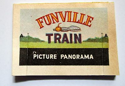 Vintage Cracker Jack Prize 1960s PICTURE PANORAMA Funville Train