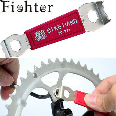 bicycle repair tool Wrench For bike Slotted Chain ring Nuts/crank cover wrench