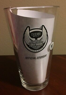 NEW HARLEY DAVIDSON-MOTOR CYCLES 105th Anniversary Miller Lite Beer Glass NEW
