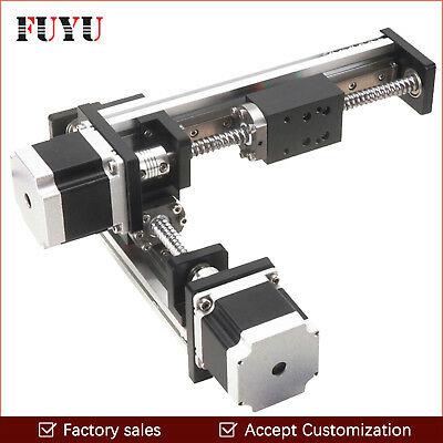 Free shipping 100x100mm stepper motor drive XY linear table for cutting