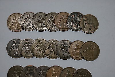 Uk Gb Penny Collection All Different A55 Zi17