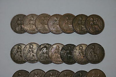 Uk Gb Penny Collection All Different A55 Zi29