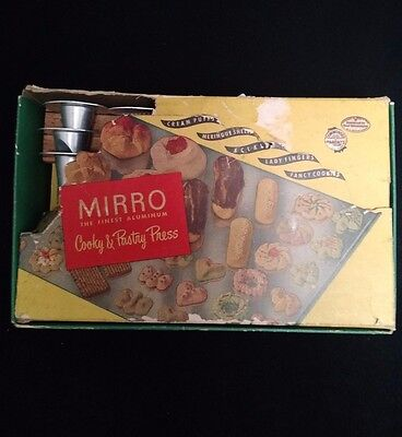 Vintage Mirro Cooky and Pastry Press Complete With Box and Booklet No. 358 AM