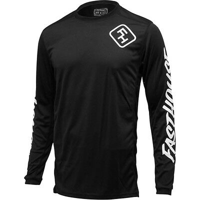 NEW Fasthouse MX Gear L1 Grindhouse Midnight Black Vented Motocross Jersey