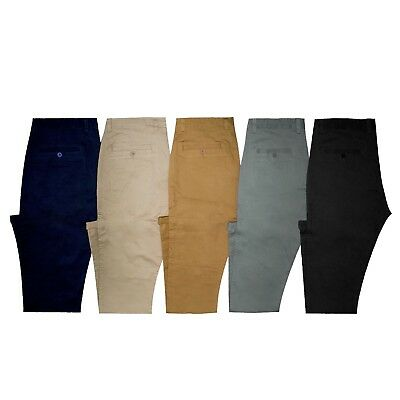 NEW ARRIVAL: MENS SLIM FIT COTTON CHINO PANTS -  5 Colours