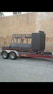 Custom BBQ Mobile Pit Smoker with Trailer