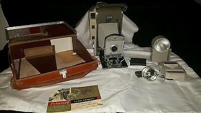 """Vintage """"polaroid Land Camera, The 800"""" Complete With Extras"""