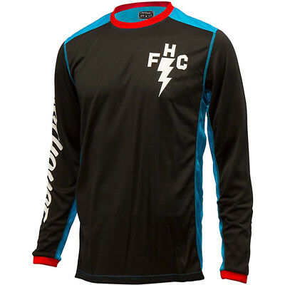 NEW Fasthouse MX Gear L1 FH Crew Black Electric Blue Vented Motocross Jersey