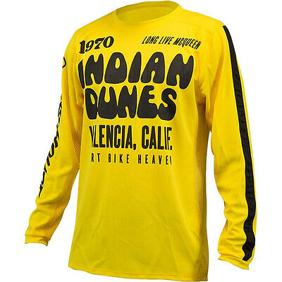 NEW Fasthouse MX Gear Indian Dunes Yellow Vented Motocross Jersey