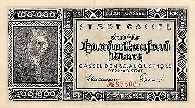 Germany / Cassel 1 Million Mark 20.8.1923  circulated Banknote Ger.1