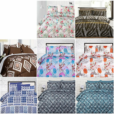 3 Piece Comforter Padded Bedding Set by Big Sleep QUEEN KING