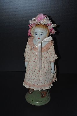 Antique China Doll Reproduction Glass Eyes Greiner Style Nice