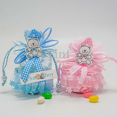 60Pcs Sweet Candy Chocolate Gift Boxes Baby Shower Wedding Party Favours Decor