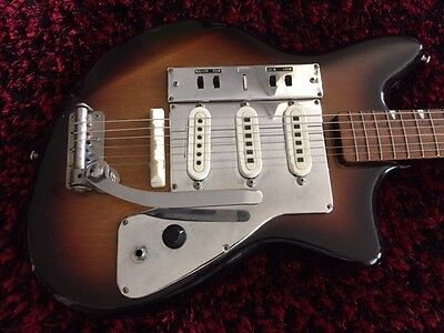 Vintage 60s Guyatone LG-130T MIJ Electric Guitar & Case