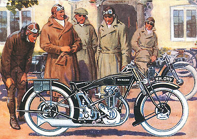 c1929 New Hudson Motorcycles poster