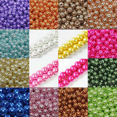 Wholesale Czech Glass Pearl Round Spacer Loose Charming Beads DIY 4/6/8/10/12mm