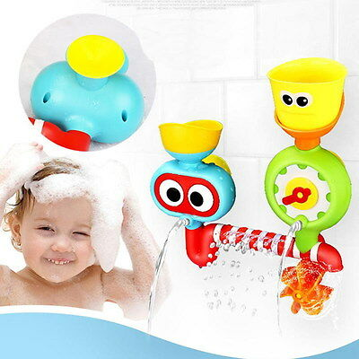 Colorful Bath Toys Water Faucet Taps Sprinkler Spout Play For Kids Baby