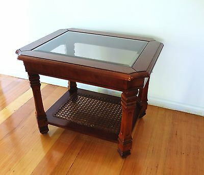 Lounge Room Glass Solid Wood Side Table Coffee Table