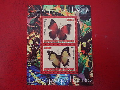 Djibouti - 2009 Butterflies - Minisheet - Unmounted Mint - Ex. Condition
