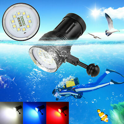 Photography Video 21000LM 10x XM-L2+4xRot+4xBlau LED Tauche Tauchlampe bis 100m