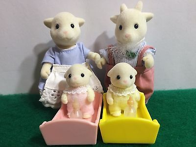 Sylvanian Families RARE VINTAGE NETTLEFIELD GOAT FAMILY, BOXED!